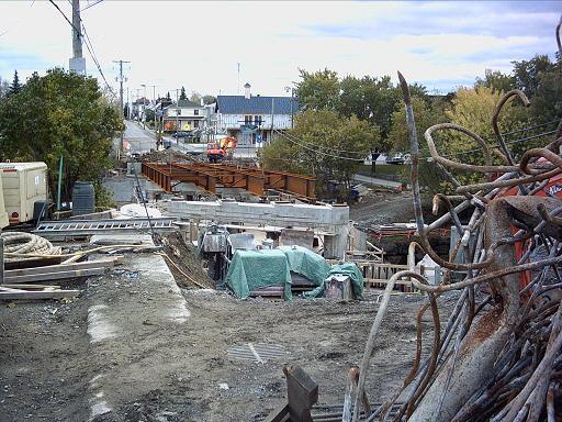 Le chantier, vu du côté nord