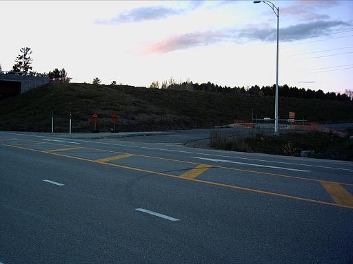 L'entrée de l'A-50 est, au chemin Doherty