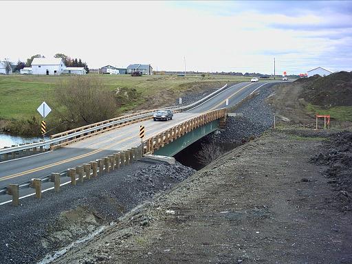 Le pont temporaire de Saint-Lin–Laurentides